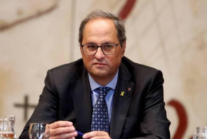 Глава Каталонии призвал Мадрид начать диалог без предварительных условий