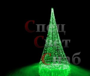 Светодиодная елка (6 м, зеленая)
