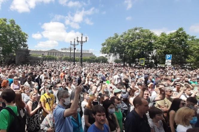 В Хабаровске — 20-й день протестов