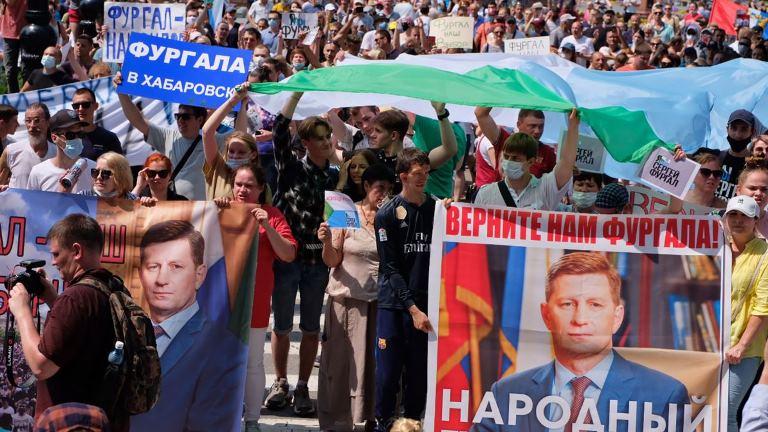 В российских городах на акциях «Я/Мы Фургал» задержали около 70 человек