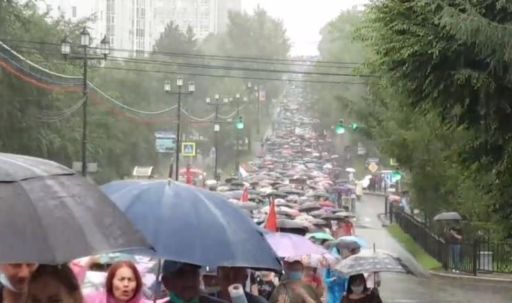 В Хабаровске начался 22-й день протестов