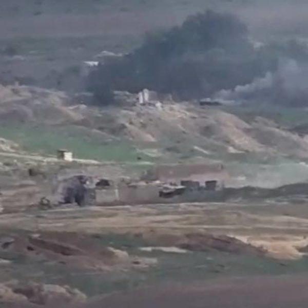 Огненный ад в Карабахе: танки Азербайджана взрываются один за другим