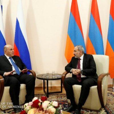 Премьеры России и Армении обсудили ситуацию в Нагорном Карабахе