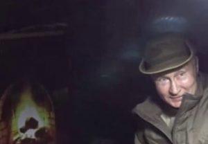 Путин заночевал в тайге с необычным камином